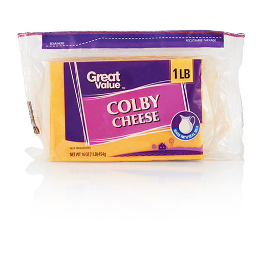 Great Value Natural Colby Cheese, 16 oz