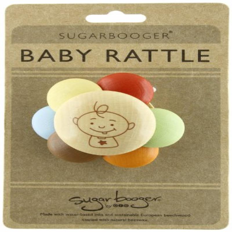 Sugarbooger Peek-a-Boo Wooden Rattle by Sugarbooger