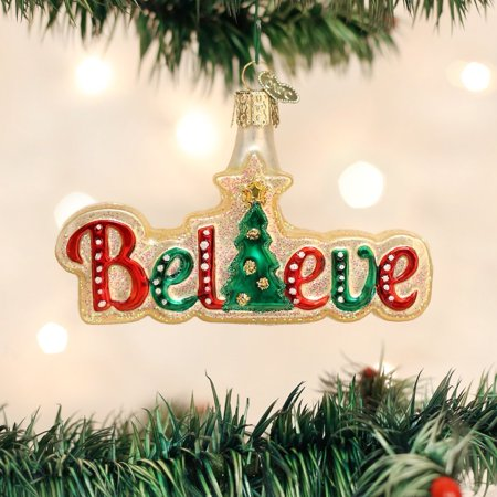 Believe Glass Blown Ornament, Hand crafted in age-old tradition using techniques that originated in the 1800's By Old World Christmas ()