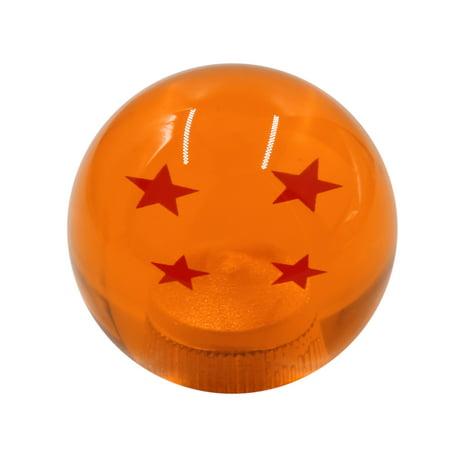 Ball Gear Cover (Universal Car Vehicle Gear Stick Shift Knob Cover Lever Dragon Ball 4 Star Orange 54mm )