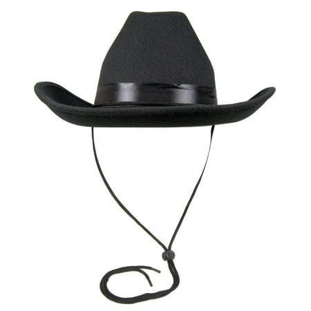 Deluxe Felt Cowboy Hat - Black
