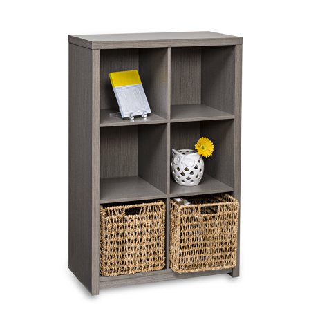 Honey Can Do Premium Laminate Storage Cube with 6 Cubes, Weathered Teak ()