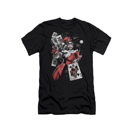 Harley Quinn Skirt (Batman DC Comics Harley Quinn Smoking Gun Adult Slim T-Shirt)