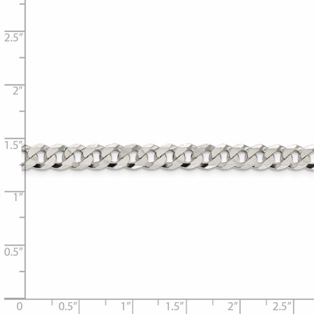 925 Sterling Silver 6.3mm Beveled Curb Chain 20 Inch - image 2 de 5