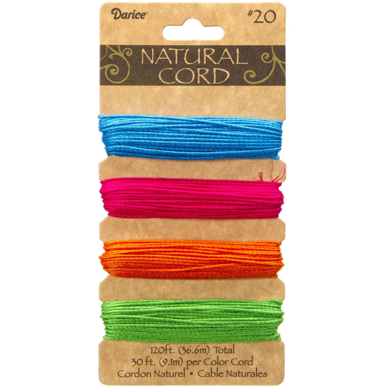 Bamboo Cord Set: Neon Colors, 120 Feet