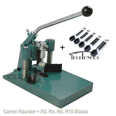 TechTongda All Metal Heavy Steel R6 R10 Corner Rounder Punch Cutter Stack Paper Alumium+ R3 R4 R8 Blades