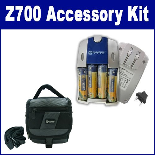Kodak Z700 Digital Camera Accessory Kit includes: SB257 Charger, SDC-27 Case