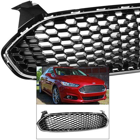 - Front Grille for Ford Fusion Mondeo 2013-2016 Mustang Style Chrome Glossy Honeycomb