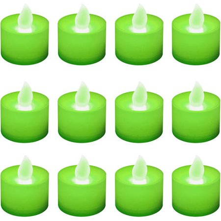 LumaBase Battery Operated LED Tea Light Candles, 12 Count