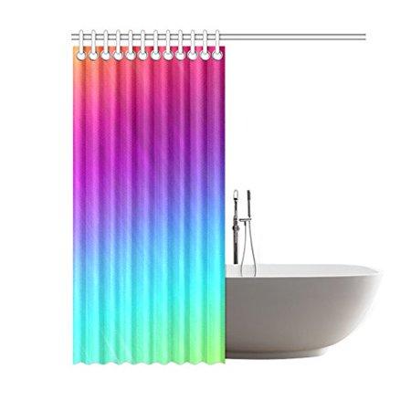 RYLABLUE Neon Rainbow Rays Bathroom Waterproof Fabric Shower Curtain 60x72 inches - image 1 de 2
