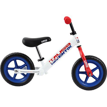 KaZAM USA BMX 12 Inch Balance Kid's 2 Wheel Bike with No Tool Setup, White/Blue ()