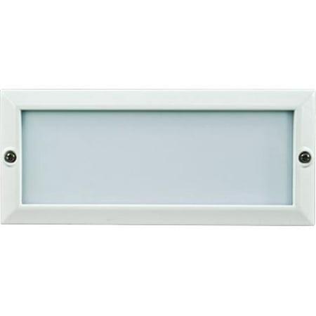 Dabmar Lighting LV602-W Cast Aluminum Recessed Open Face Brick, Step & Wall Light, White - 4 x 9.13 x 3.25 (Cast Aluminum 4 Light)
