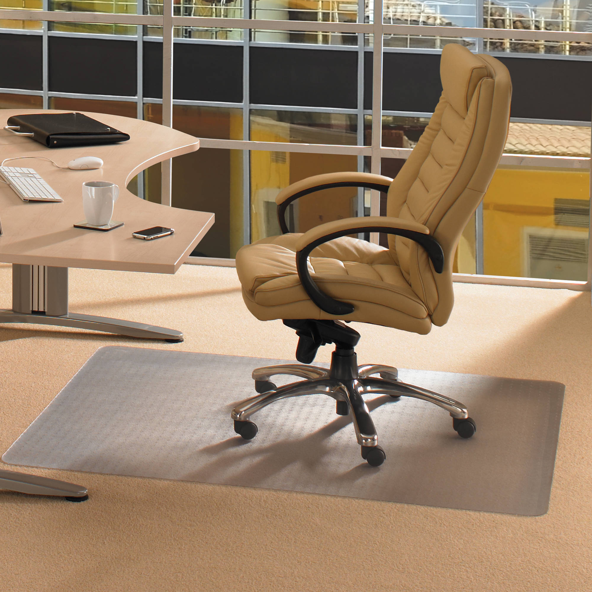 ecotex enhanced polymer 48 x 60 standard pile carpet chair mat