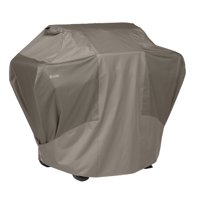 Classic Accessories Porterhouse™ BBQ Grill Cover - Heavy Duty and Water Resistant BBQ Cover, Medium, 58-Inch W, Limestone/Cord