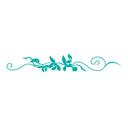 Floral Scroll Decals Small Turquoise