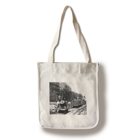 Petersburg, VA - Mortar Dictator on Railroad Civil War Photograph (100% Cotton Tote Bag - Reusable)