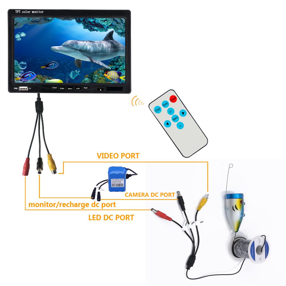 "7"" Color Digital LCD 1000TVL Fish Finder HD DVR Recorder ..."