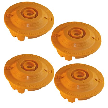 Dual Line Trimmer Head - Ryobi RY26500 Trimmer (4 Pack) Replacement Dual Spool Fixed Line String Head Insert # 310734001-4PK