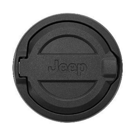 Jeep® Performance Accessories Mopar Part # 82215123 Black Powder Coat Fuel Filler Door