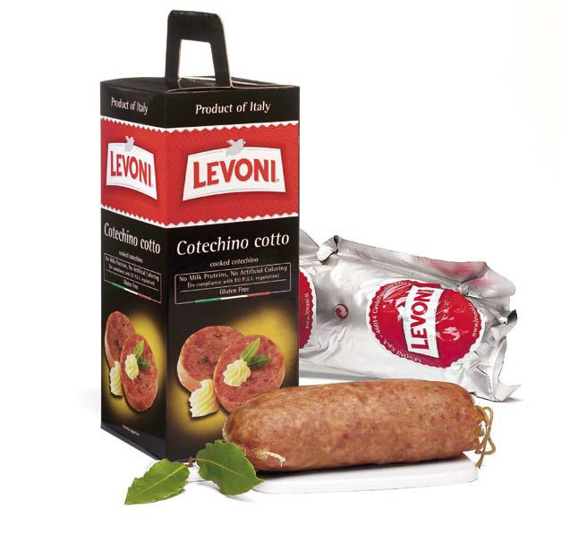 Levoni Cotechino Cotto PGI Modena Cooked Pork Sausage 17.5 oz by Levoni