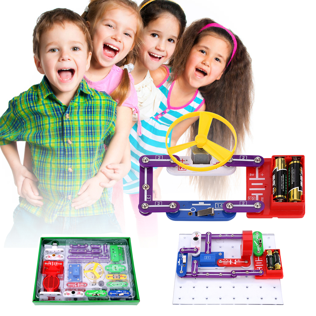 Virhuck W-335 Electronics Discovery Kit DIY Blocks Funny Educational Circuits Science Educational Toy