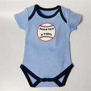 BBBASEBBS912 Baseball Bodysuit - Blue, 9-12 months