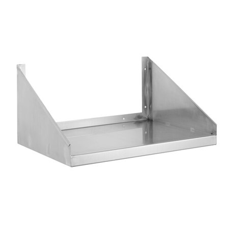 Stainless Steel Wall Mount Microwave Shelf 18 Deep