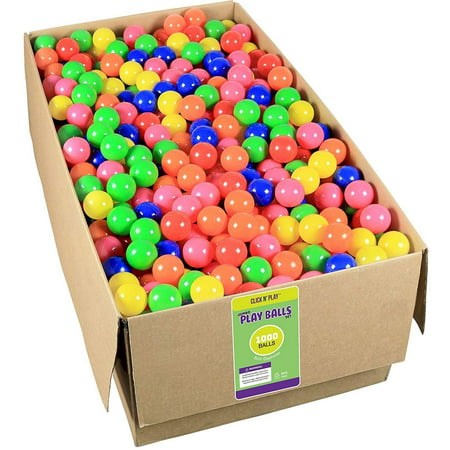 Click N' Play Phthalate Free & BPA Free, Crush Proof Ball Pit Balls, Bulk 1000 pack - Bulk Ball Pit Balls