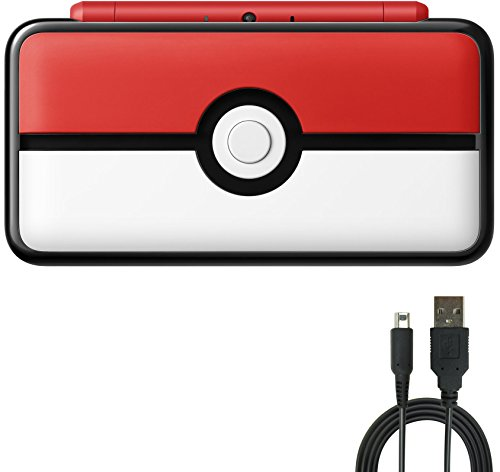 Nintendo 2DS Bundle:Nintendo New 2DS XL - Poke Ball Edition and USB Sync Charge USB Cable