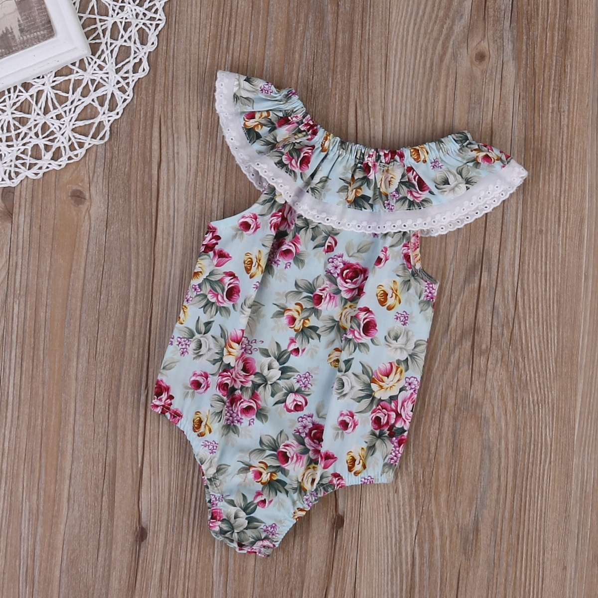 Lovely Infant Newborn Baby Floral Lace Romper Bodysuit Jumpsuit Clothes Outfits