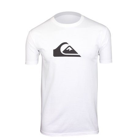 - Quiksilver Mens Comp Logo T-Shirt - White - Small