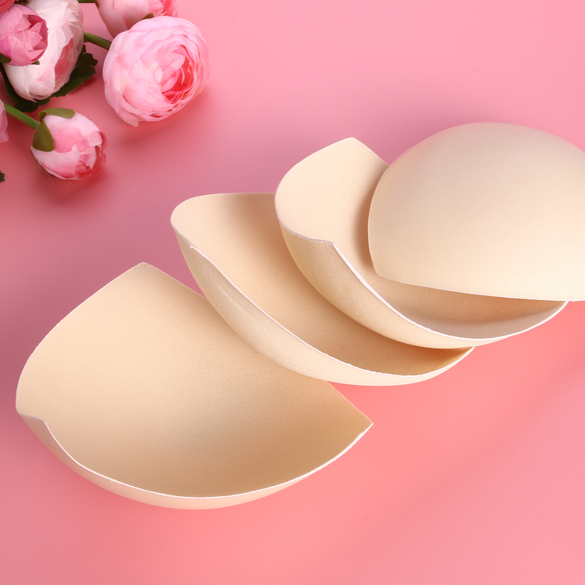 6 Pairs Womens Removable Breathable Bra Pads Inserts Swimsuit Bikini Bra Cup