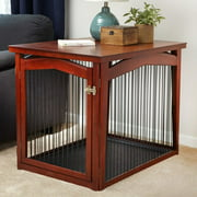 """Zoovilla 2 in 1 Single-Door Wooden Dog Crate and Gate, Large, 39""""L"""