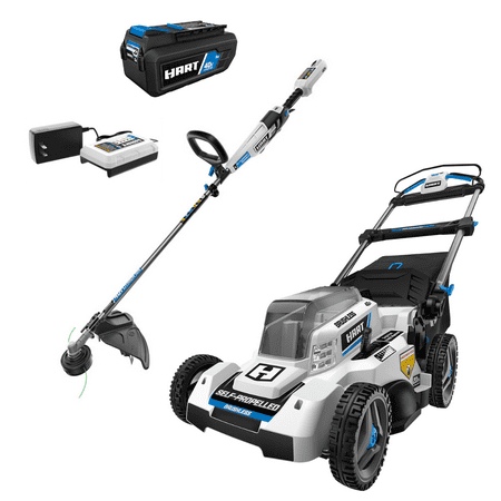 """HART 40-Volt 20"""" Brushless Self Propelled Mower with 40-Volt Trimmer (2-Tool)"""