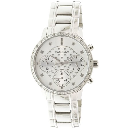 0efd253446f4 Guess Women s U1022L1 Silver Stainless-Steel Japanese Quartz Fashion Watch  - Walmart.com