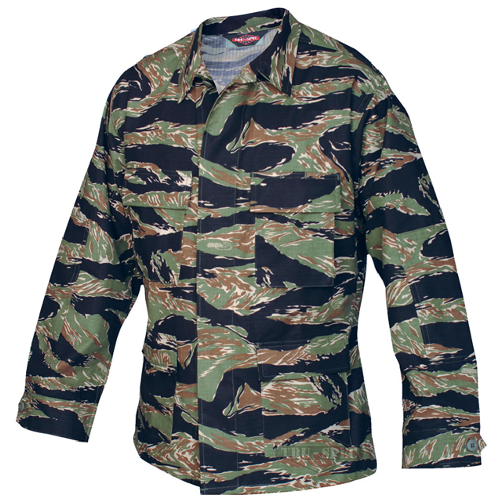 100% Cotton Rip-Stop Battle Coats (BDU) Tiger Stripe Green 3X-Large