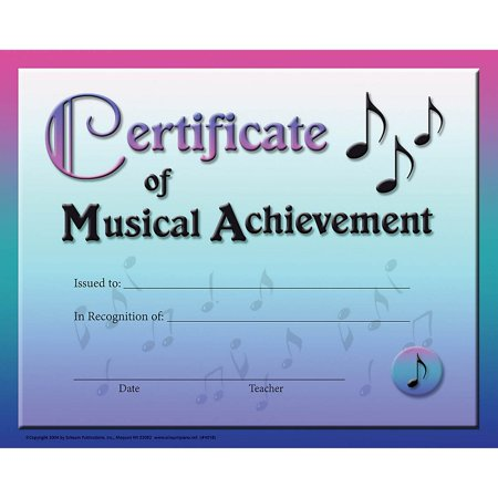 SCHAUM Certificate of Musical Achievement Educational Piano Series Softcover - 123 Halloween Certificates