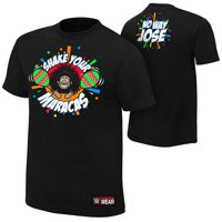 """Official WWE Authentic No Way Jose """"Shake Your Maracas""""  T-Shirt Black Small"""