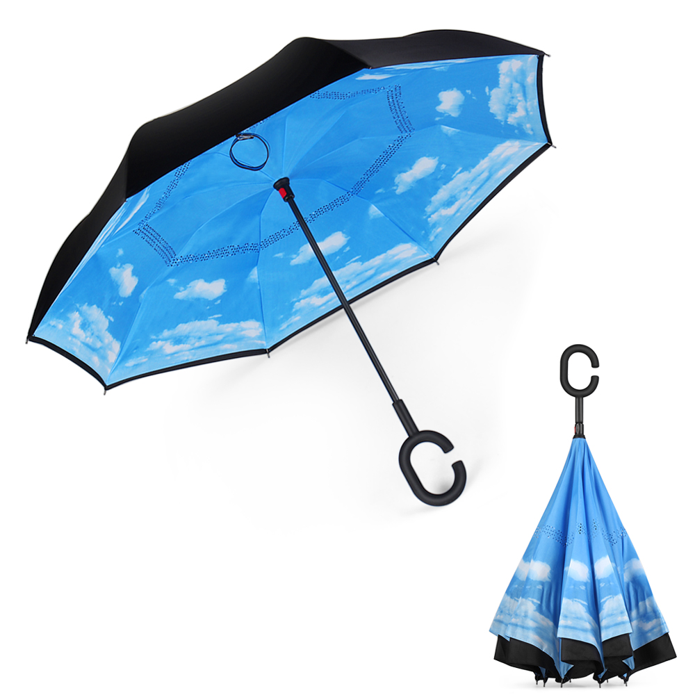 Sailor Moon Car Reverse Umbrella Windproof And Rainproof Double Folding Inverted Umbrella With C-Shaped Handle UV Protection Inverted Folding Umbrellas