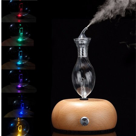 Pro Nebulizing Pure Essential Oils Fragrances Aromatherapy Wood & Glass Diffuser Glass Diffuser Trim
