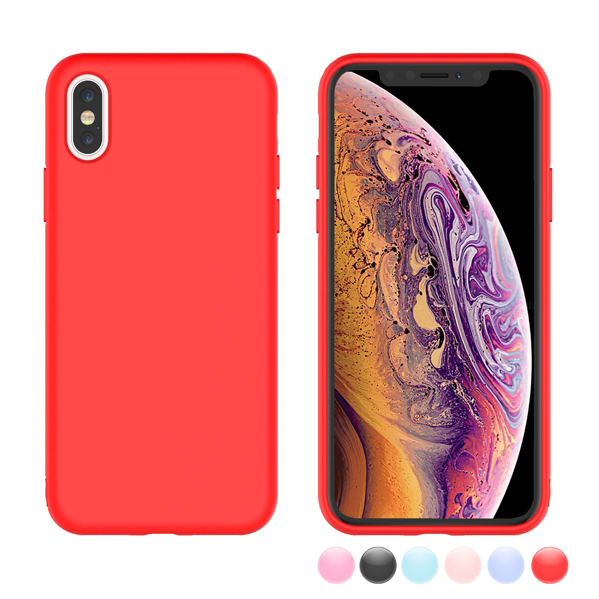 info for feadc b90ed Njjex Case Cover for Apple iPhone XR / iPhone XS Max / iPhone XS / iPhone X  / iPhone 10 / iPhone X Edition, Njjex Matte Charming Colorful Slim Soft ...