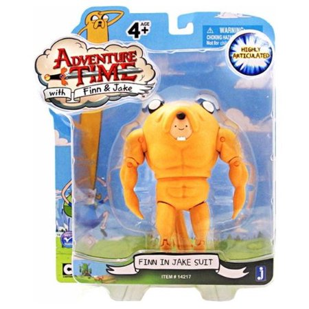 Jake Suit (5 Inch Action Figure Finn in Jake Suit by Jazwares Toys, Adventure Time - 5 Finn in a Jake Suit Action Figure By Adventure Time Ship from)