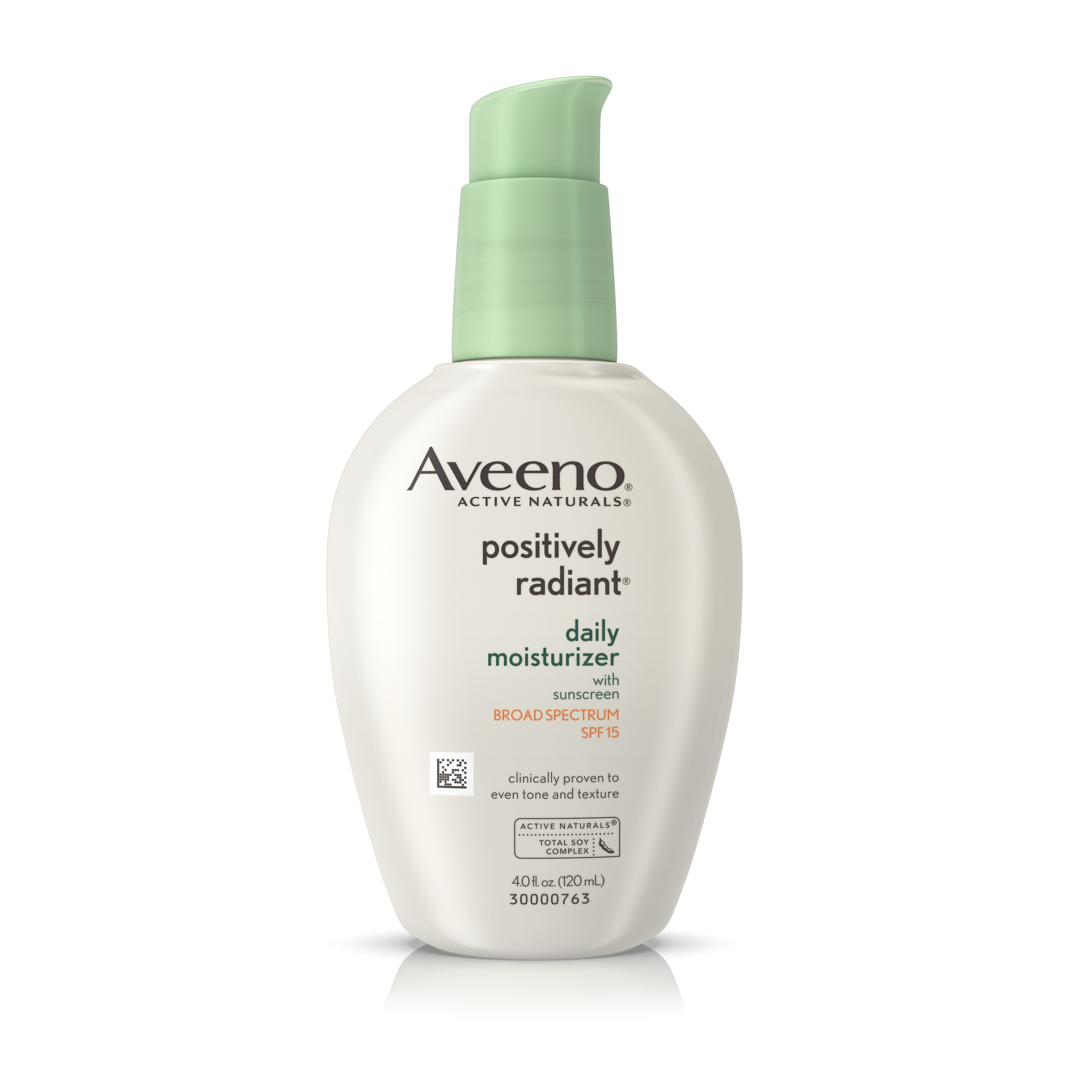 Aveeno Positively Radiant Daily Moisturizer With Sunscreen Broad Spectrum Spf 15, 4 Oz - Walmart.com