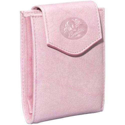 Buxton Womens Leather Pink Heiress Collection Convertible Billfold Bifold Wallet