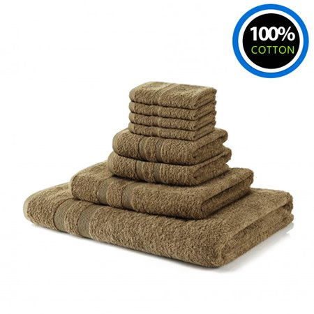 100% Cotton Towels Hotel & Spa Bale Set| 4 Washcloths 2 Hand Towels 1 Bath Towel 1 Bath Sheet For Bathroom