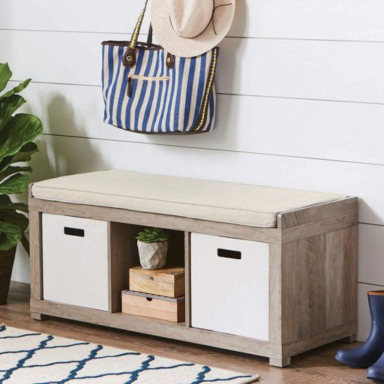 Better Homes And Gardens 3 Cube Organizer Bench Rustic Gray