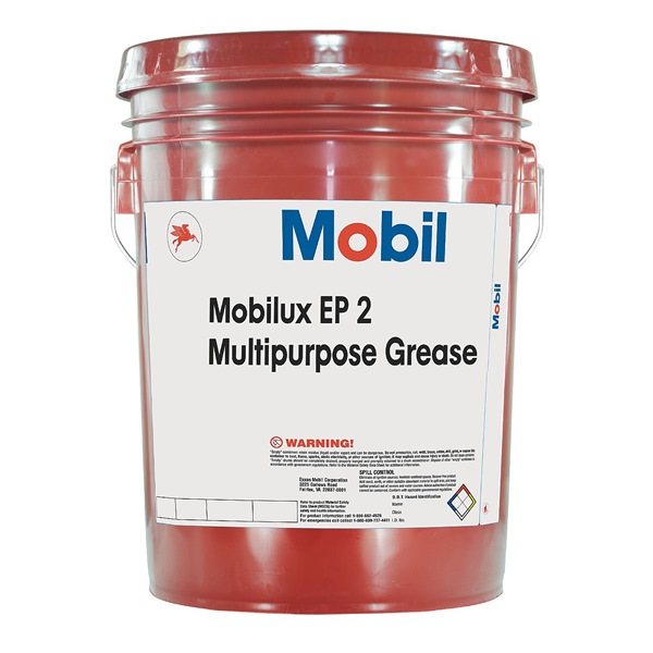 Grease, Mobilux EP 2, 5 Gal, NLGI Gr2
