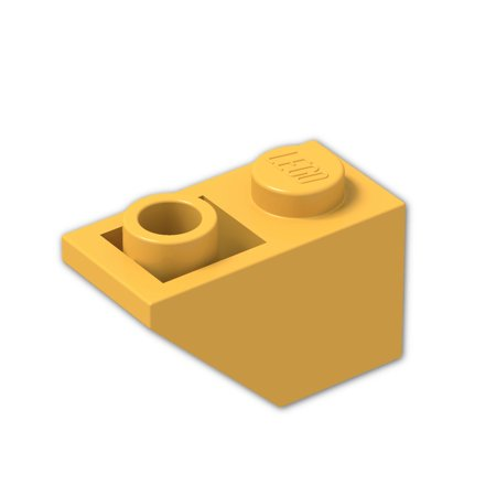 Brick Building Sets Original Lego Parts: Slope, Inverted 45º 2 x 1 (3665 - Pack of 8) (Bright Light Orange)