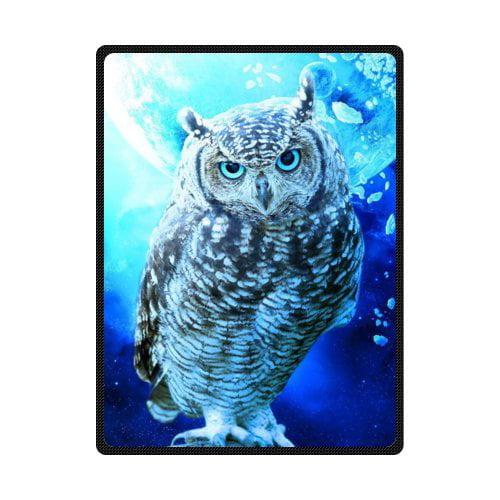 Cadecor Owl Fleece Blanket Throw Blanket 58x80 Inches