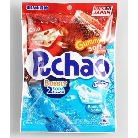 Puchao Cola And Ramune Soda Gummy Candy 1.76 oz. (Pack of 1)